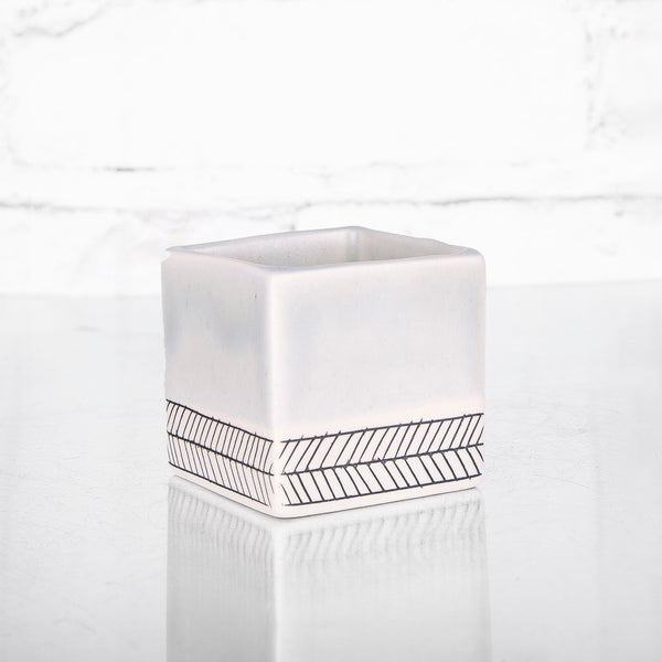 NEW! Small Square Planter in SeaFoam by Elizabeth Benotti