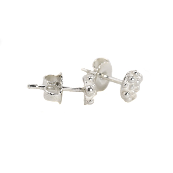 NEW! Small Sterling Silver Bumpy Post Earrings by Dahlia Kanner