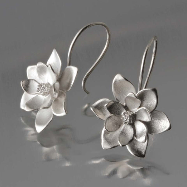 Small Magnolia Loops by EAM - Fire Opal