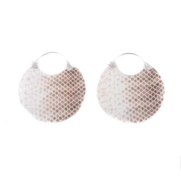 Large Snakeskin Encasement Earrings by Luana Coonen