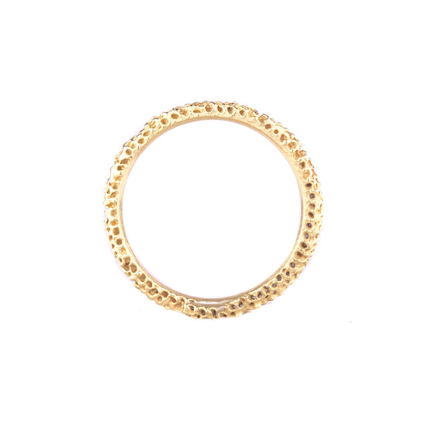 NEW! 18k Thin Spongy Band by Dahlia Kanner