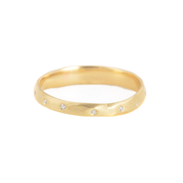 NEW! Sprinkle Diamond Crater Ring by Rebecca Overmann