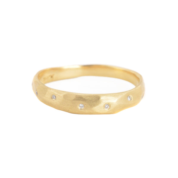 Sprinkle Diamond Crater Ring by Rebecca Overmann