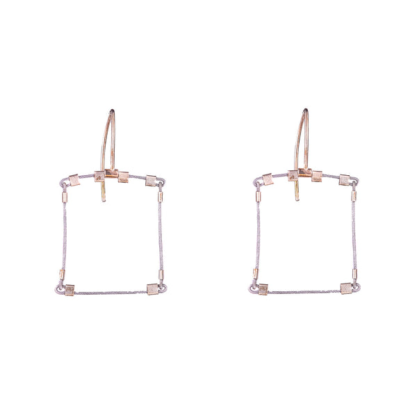NEW! Mini Square Hook Earrings by Meghan Patrice Riley