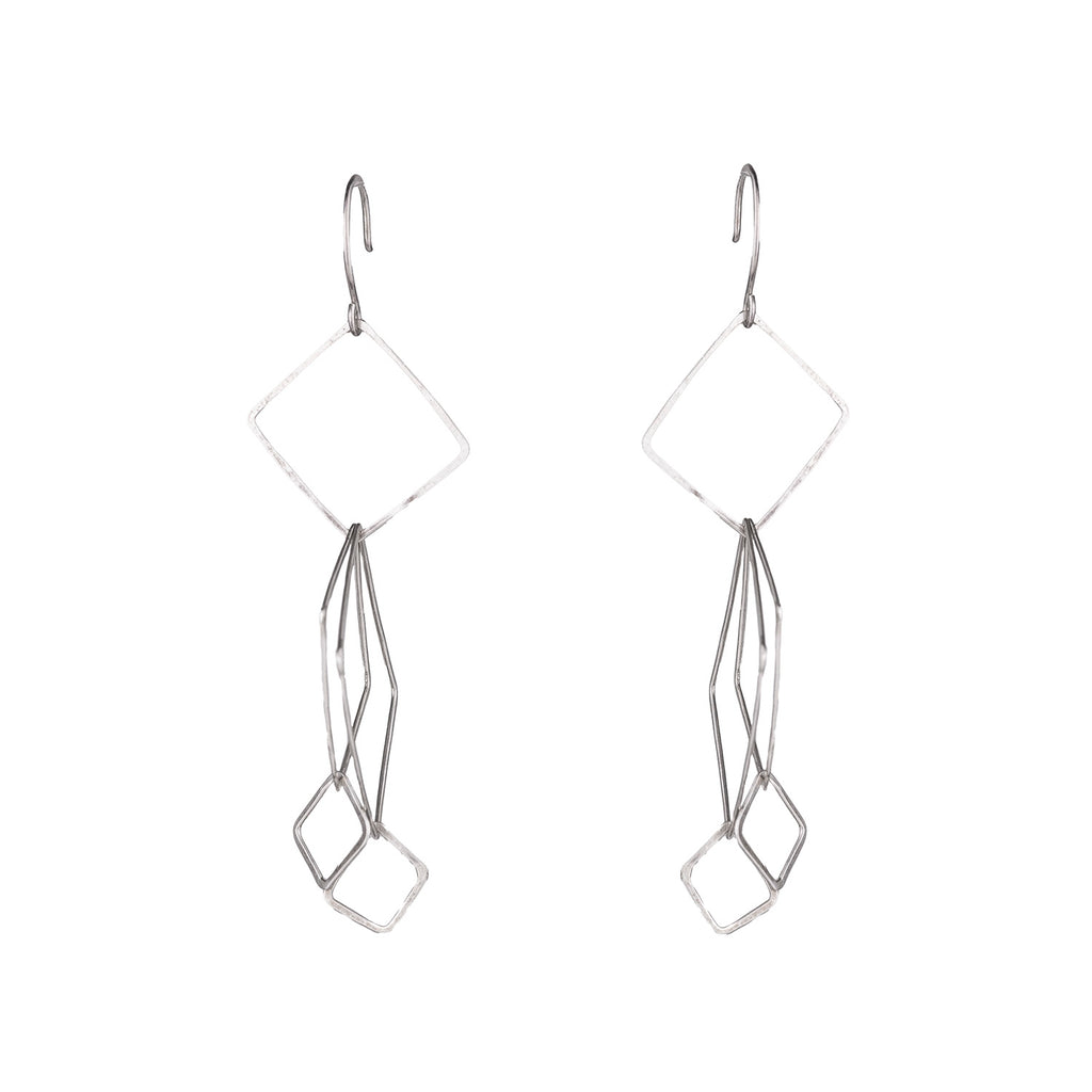 NEW! Silver Assorted Square Earrings by Olivia de Soria