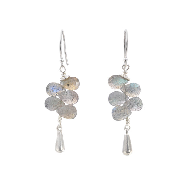 NEW! Stack Tassel Labradorite Earrings by Serena Kojimoto
