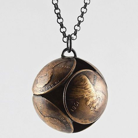 Penny Sphere Necklace by Stacey Lee Weber