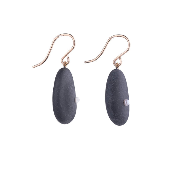 NEW! Stone & Pearl Earrings by Beth Clark