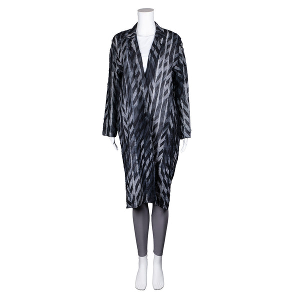 SALE! Striped Long Open Jacket by Xiaoyan Lin