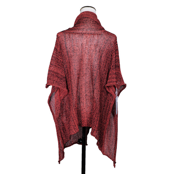 NEW! Amish Poncho in Red Black Blend by Skif