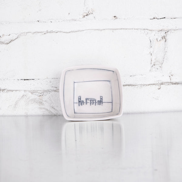 NEW! Tiny Square Dishes in Multiple Designs by Nicole Aquillano