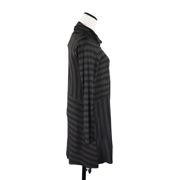Tangled Tunic in Charcoal Stripe by Spirithouse