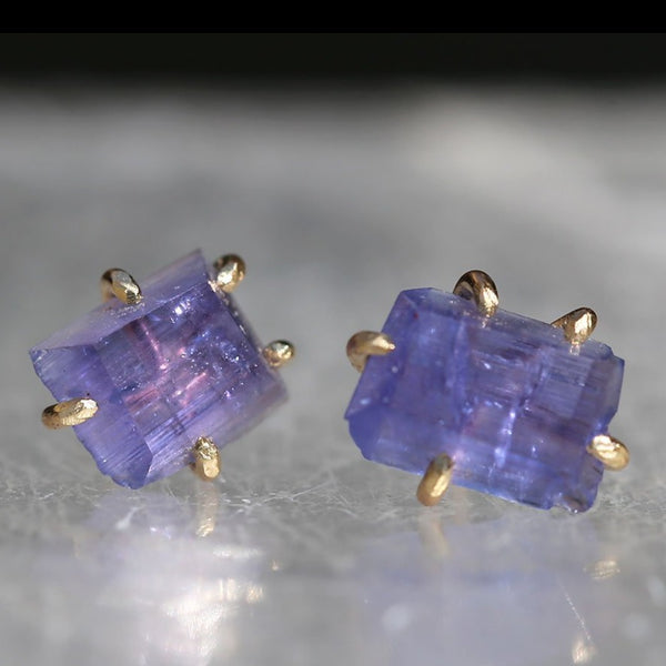 NEW! Medium Tanzanite Studs by Variance Objects
