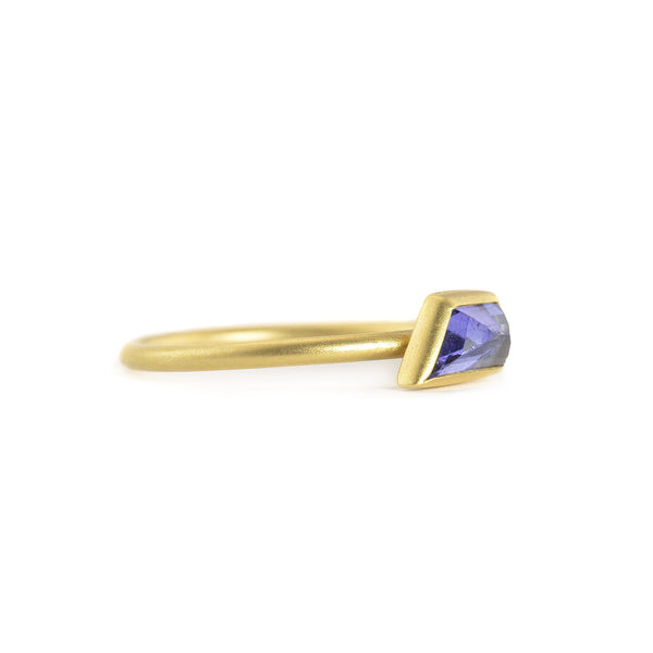 Geo Tanzanite Stacking Ring by Marion Cage