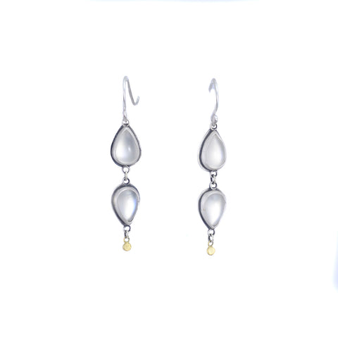 NEW! Two Teardrop Moonstone Earrings by Ananda Khalsa