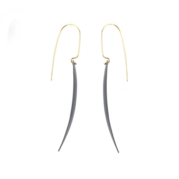 NEW! Teardrop Drop Earrings in Black by Shaesby
