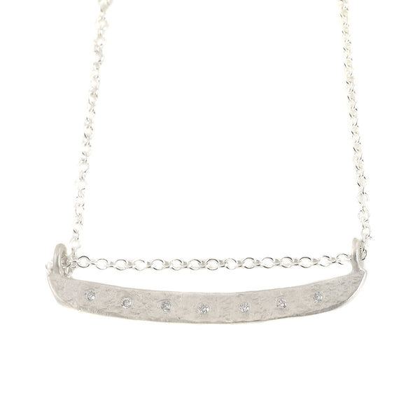 NEW! Weathered Diamond Bar Necklace by Sarah Swell