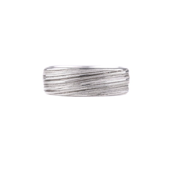Thick Tide Ring in Sterling Silver by Liz Oppenheim Jewelry