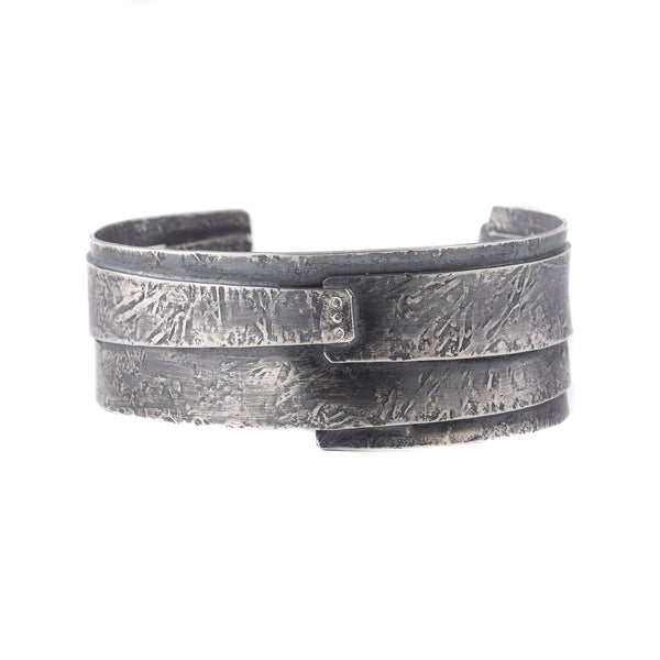 "NEW! Sterling Silver 3/4"" Warrior Cuff with Diamonds by Sasha Walsh"