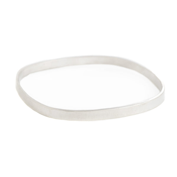 5mm wide Square Densa Bangle in Silver or Oxidized Silver by Colleen Mauer Designs