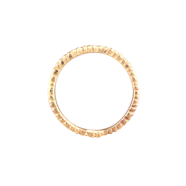 NEW! Thin 18k Yellow Gold Vertical Dig Band by Dahlia Kanner