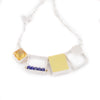 Three Rectangle One Square Necklace by Ashka Dymel