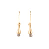 SALE! Tiny Grey Diamond Gold Earrings by Rebecca Overmann