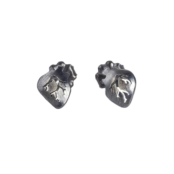 NEW! Small Heart Stud Earrings by Luana Coonen