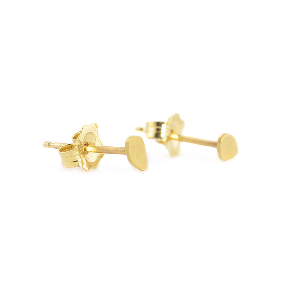 Yellow Gold Totem Stud Earrings by Marion Cage