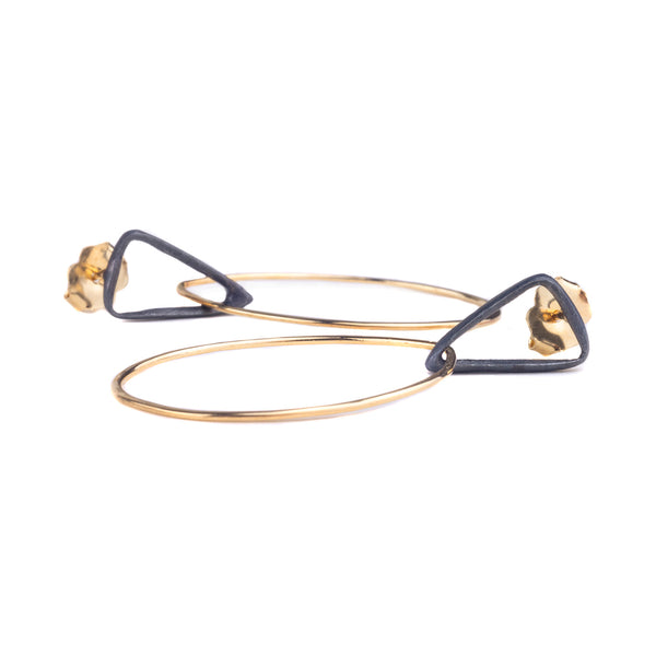 NEW! Tri-Drop Hoop Earrings by Shaesby