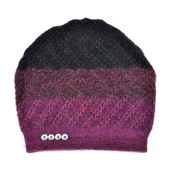 NEW! Tri-Zag Hat in Cassis to Onyx by Olena Zylak