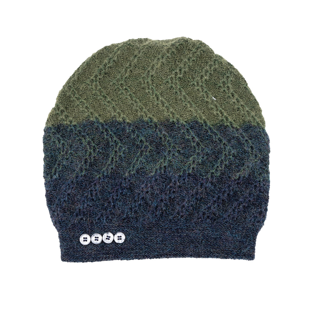 NEW! Tri-Zag Hat in Indigo to Leaf by Olena Zylak