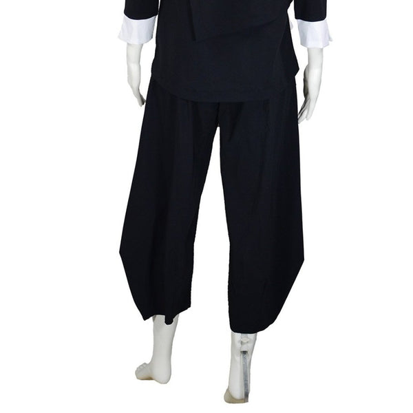 NEW! Belden Side Pleat Pant in Black by Porto