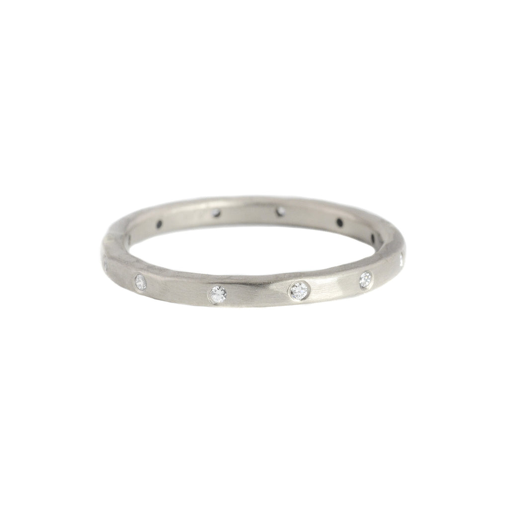 NEW! 18k Palladium White Urchin Band by Sarah Mcguire