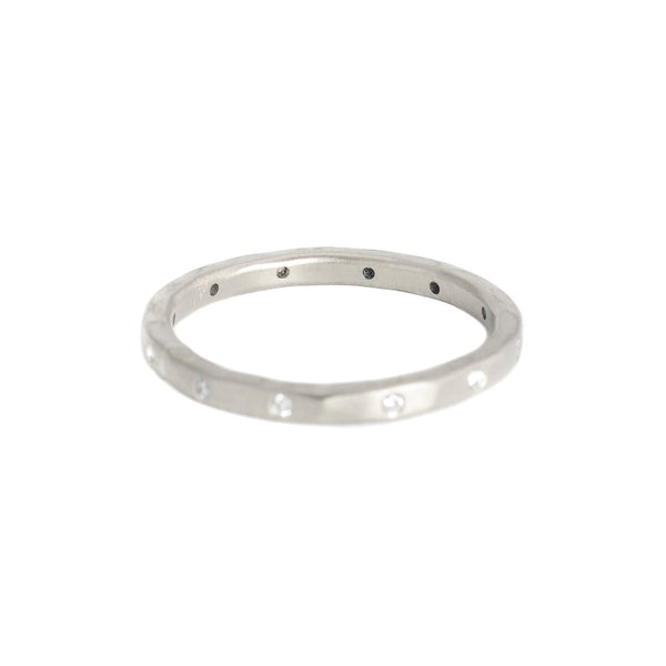 18k Palladium White Urchin Band by Sarah Mcguire