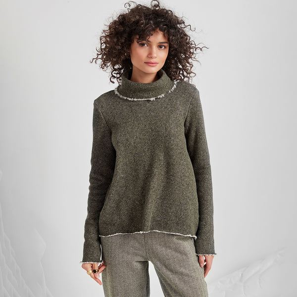 NEW! Parker Black Pull Over Top by Veronique shown in Grey