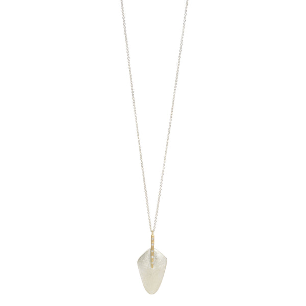 NEW! Vertical Bar Paddle Necklace with Diamonds by Shaesby