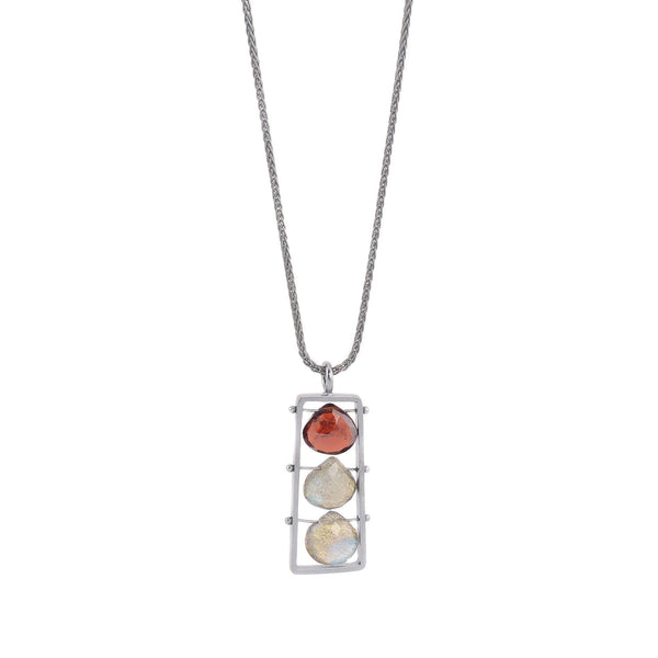 Vertical Frame Necklace by Ashka Dymel