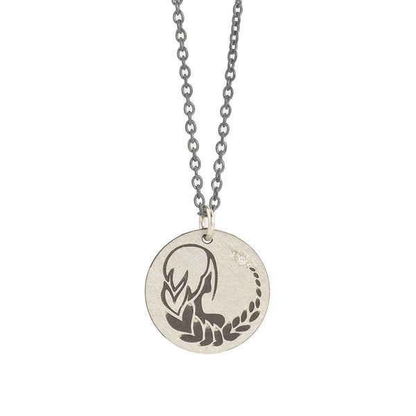 Virgo Zodiac Charm Necklace by Marion Cage