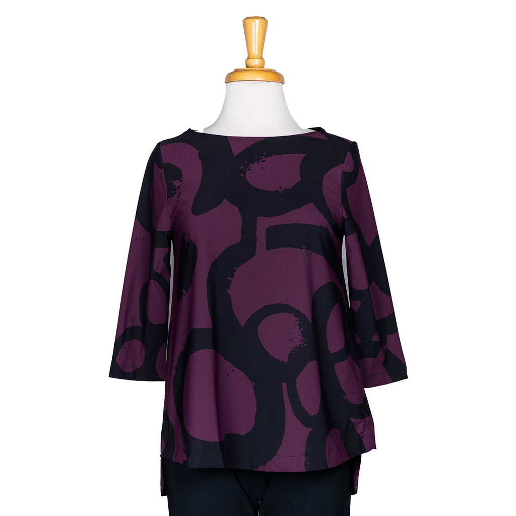 SALE! Virtue Top in Merlot Halo Print by Porto
