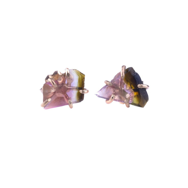 NEW! Small Watermelon Tourmaline Studs by Variance Objects