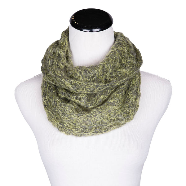 NEW! Web Loop Scarf in Citrus/Pewter by Olena Zylak
