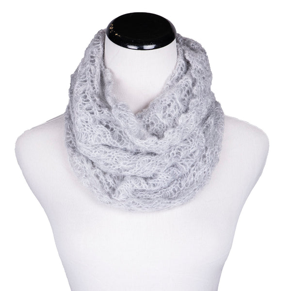NEW! Web Loop Scarf in Light Grey by Olena Zylak