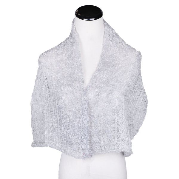 NEW! Web Topper Scarf in Light Grey by Olena Zylak