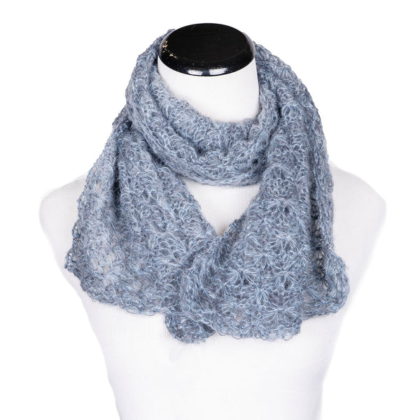 NEW! Web Topper Scarf in Sky/Pewter by Olena Zylak