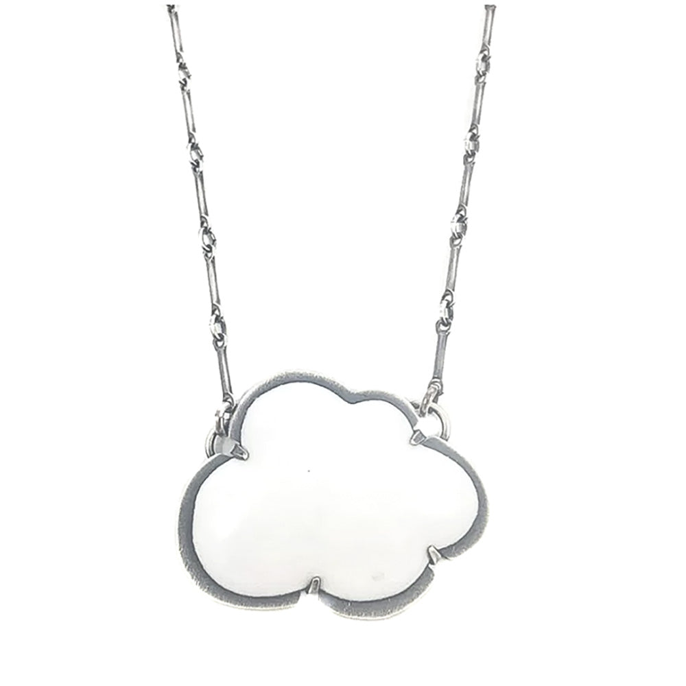 NEW! Enamel Cloud Necklace in White by Lisa Crowder