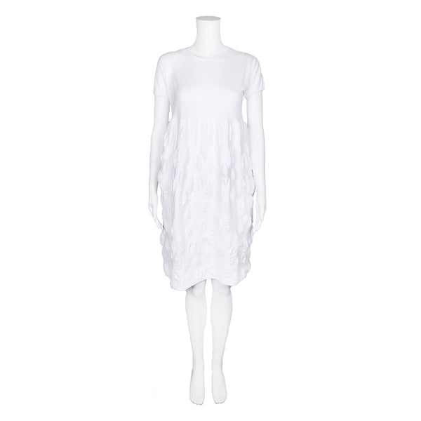 NEW! Spring Textured White Dress by Knit Knit