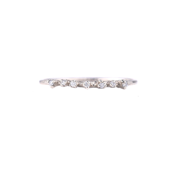 NEW! Seven Diamond White Gold Ring by N+A