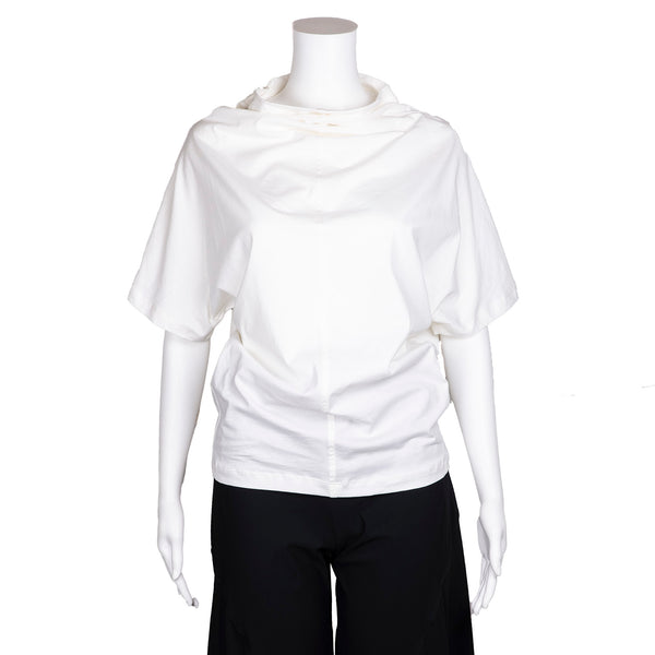 NEW! High Neck Off White Shirt by AMMA  Kedem Sasson