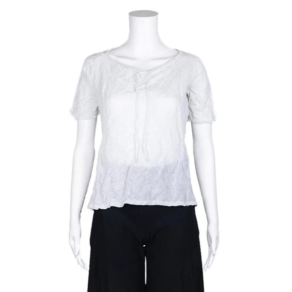 SALE! Roundneck Pullover Tee in Pearl by MJ Watson